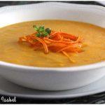 Crema de zanahorias y naranja con jengibre