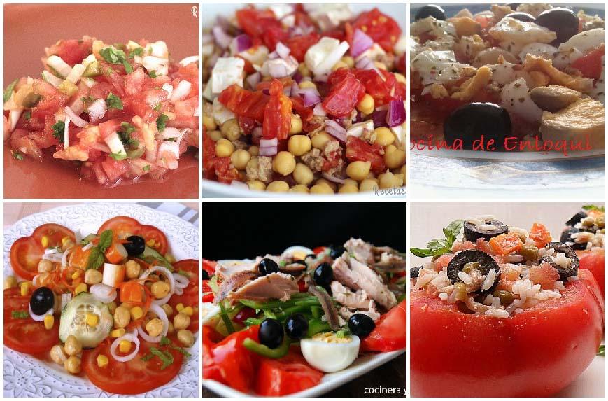 6 recetas con tomates para comer frías