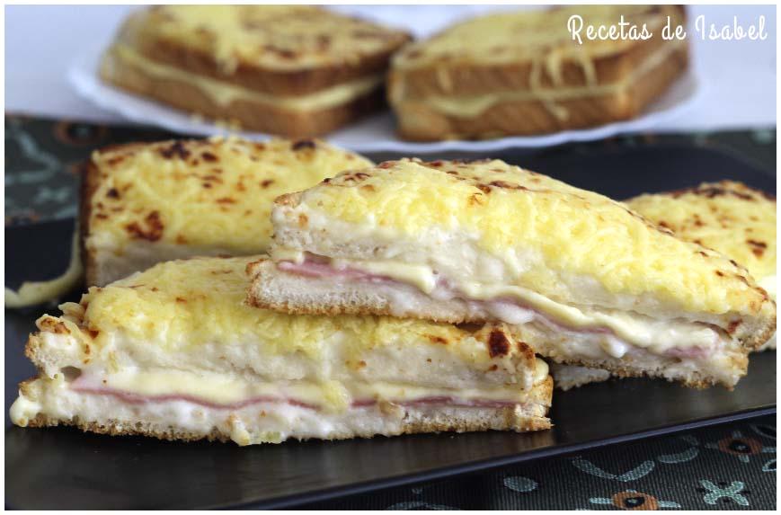 Cómo hacer un sándwich croque-monsieur