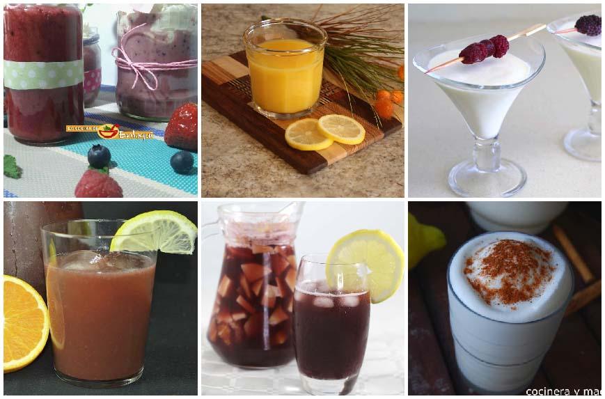 Bebidas frías para el verano