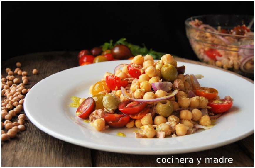 Ensalada de legumbres, fuente de vitaminas