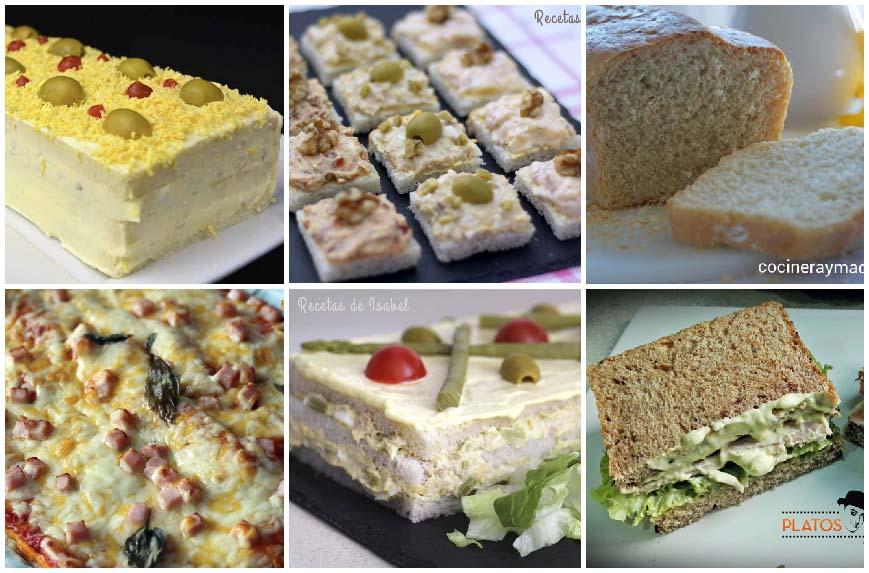 6 recetas con pan de molde saladas y fáciles