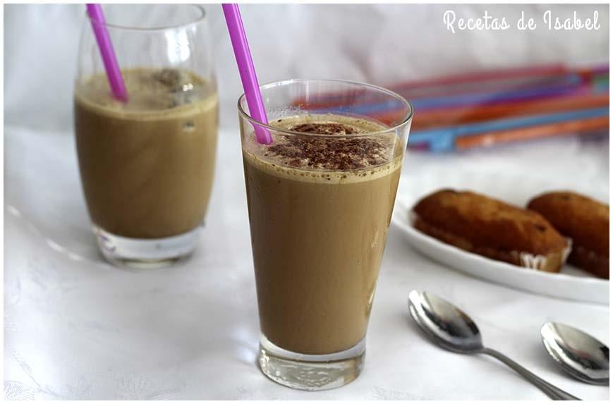 Batido de café bombón frío rapidísimo