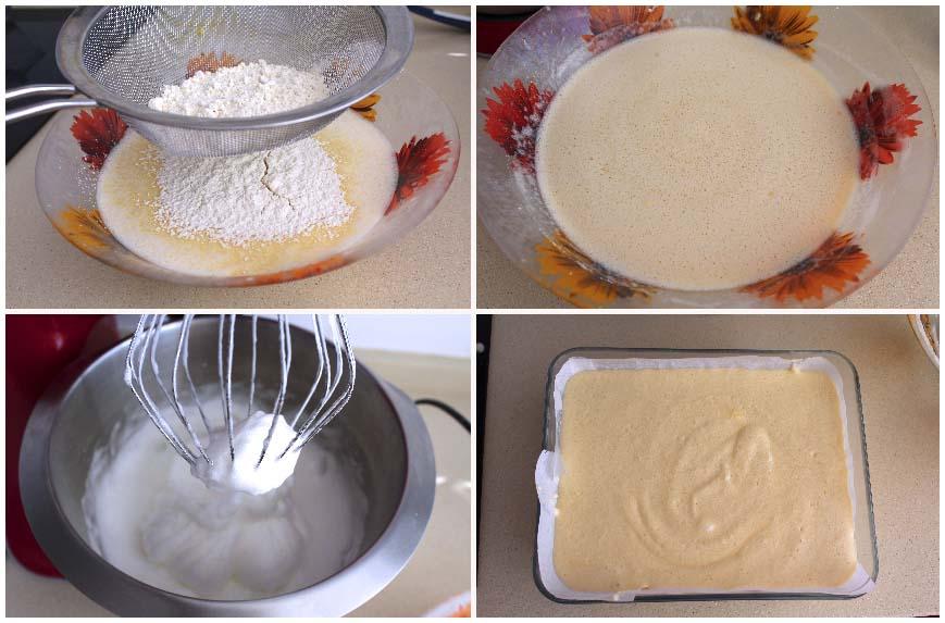 Receta de pastel inteligente o tarta mágica