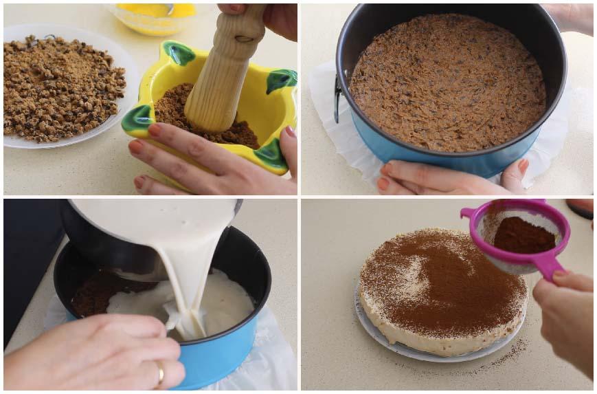 Pastel mousse de Baileys sin queso y sin horno