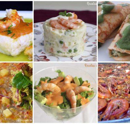 Seis recetas con langostinos de todo tipo