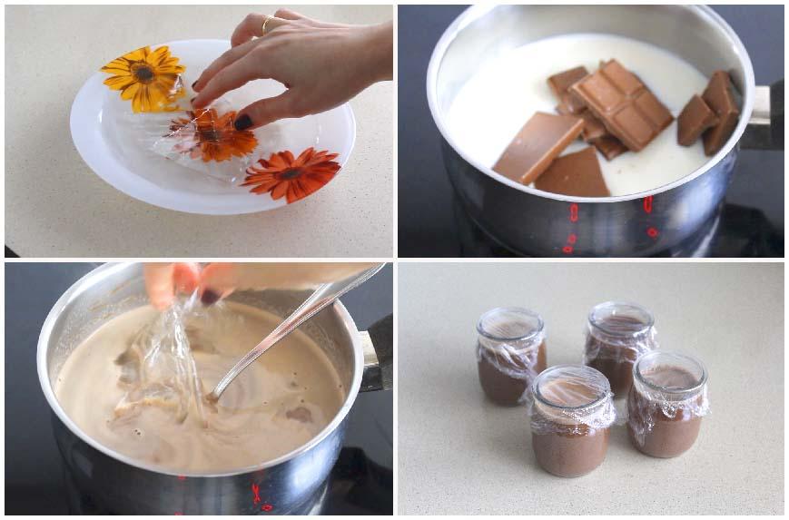 Postre tipo yogur de chocolate Milka fácil