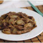 Ternera con cebolla, receta china muy fácil