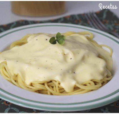 Salsa Alfredo, la más fácil para pastas