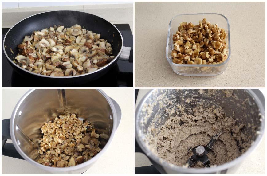 Paté de champiñones  nueces muy fácil