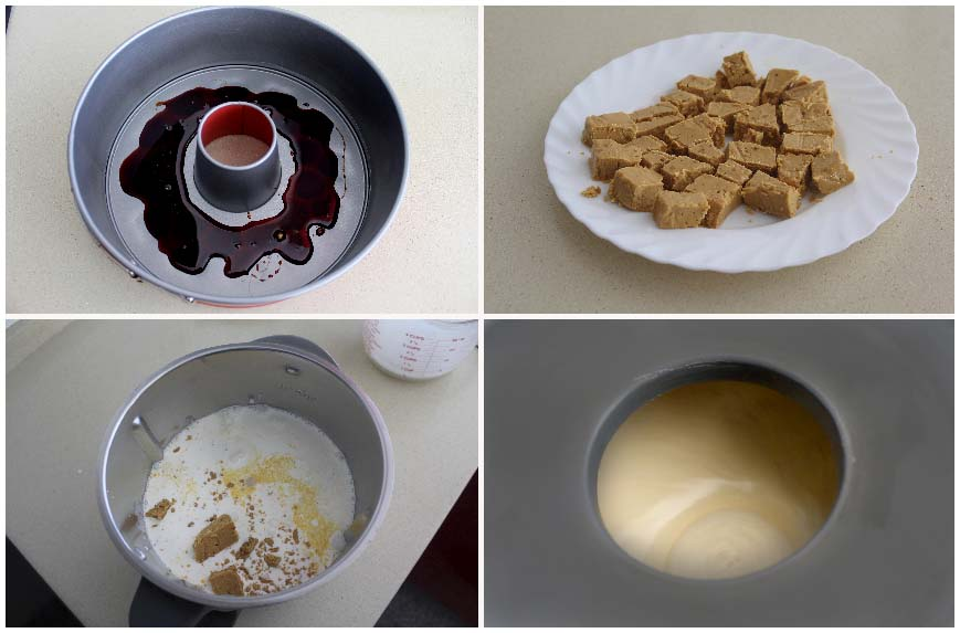 Receta de flan de turrón blando sin horno