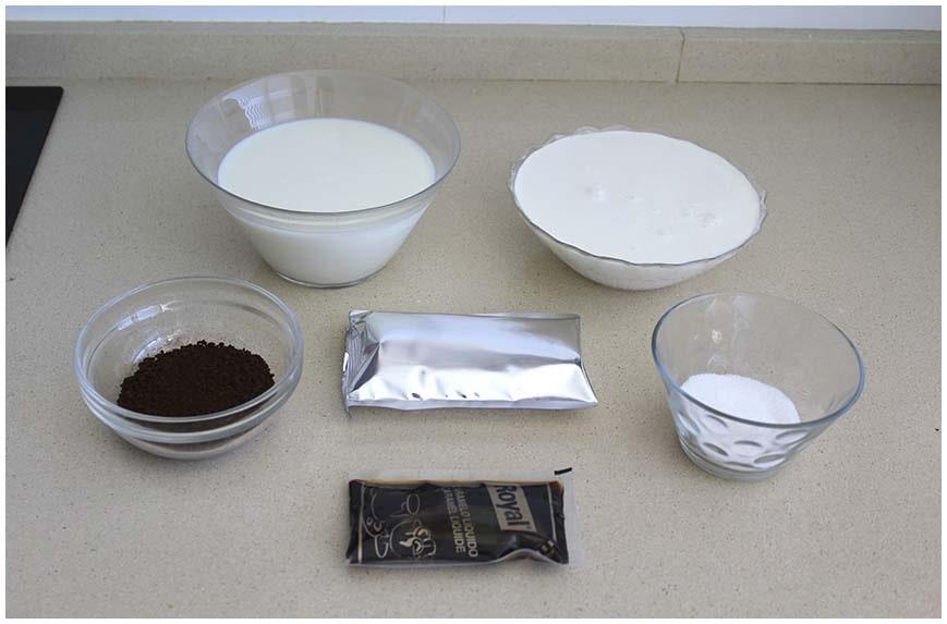 Flan de café fácil sin horno y sin huevos