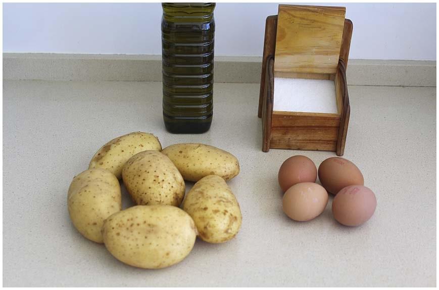 Huevos rotos. Receta explicada paso a paso