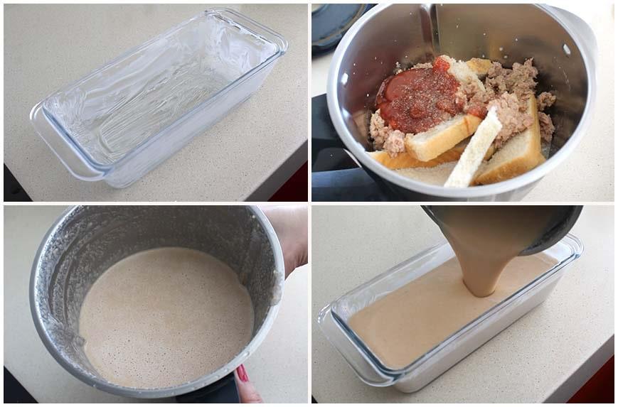 Pastel de atún o pudin al horno para comer frío