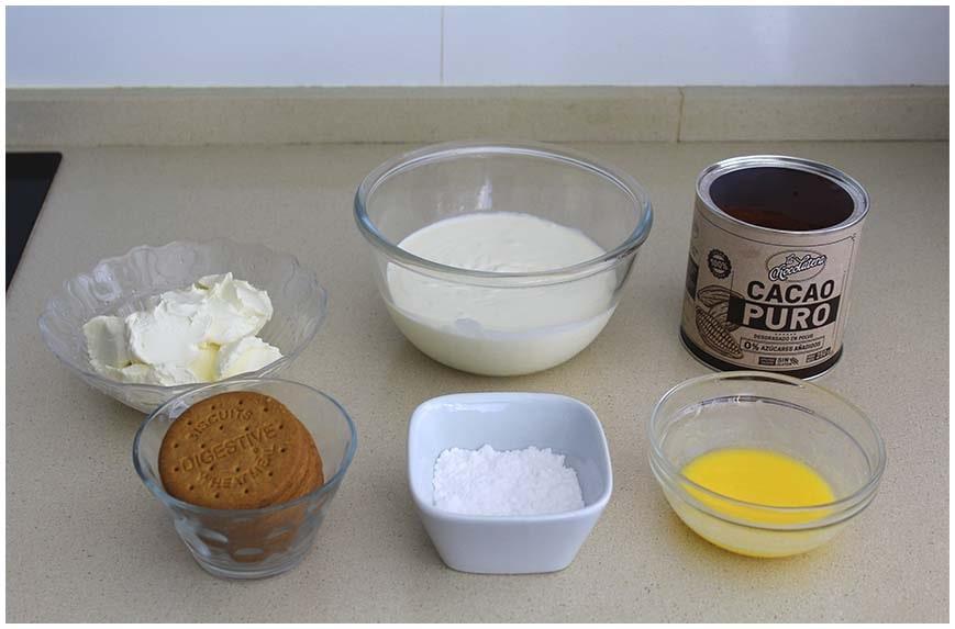 Cheesecake en vasitos con sabor a chocolate