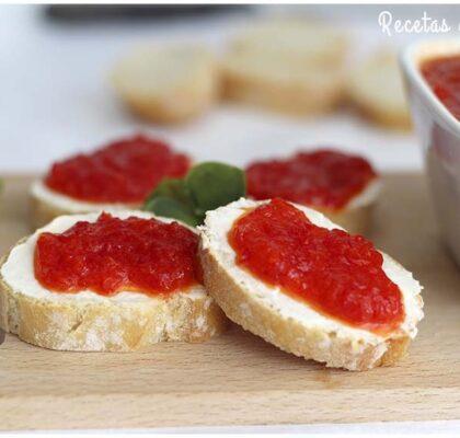 Mermelada de pimientos rojos muy fácil