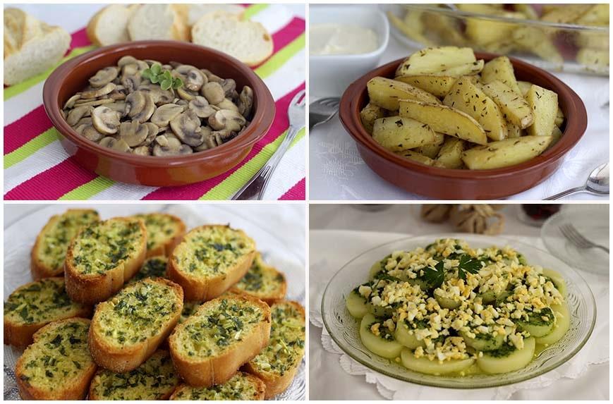 Guarniciones, cuatro recetas fáciles para cualquier plato