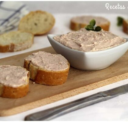 Paté de jamón cocido, un aperitivo muy fácil