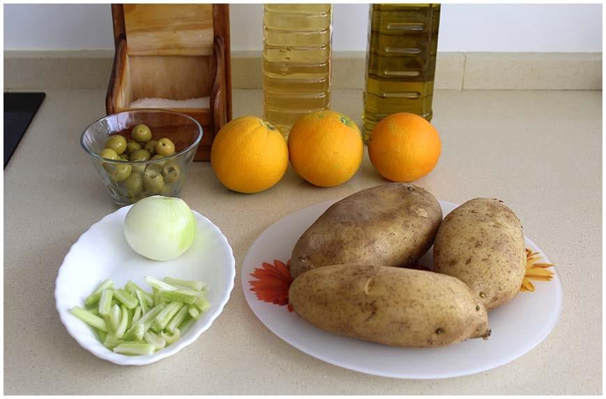 Ensalada agridulce de patatas y naranja