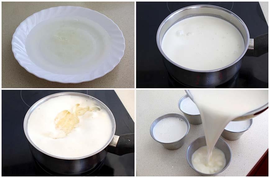 Pana cota o pannacotta de nata, postre rápido y fácil